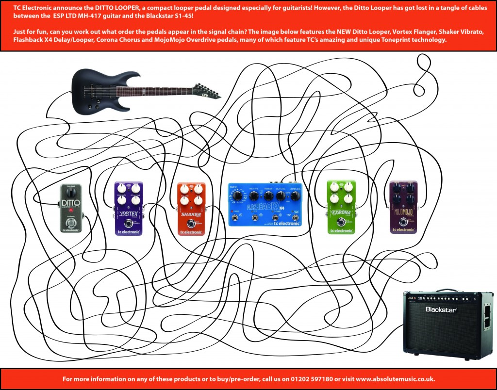 TC Electronic Ditto Looper Pedal Puzzle