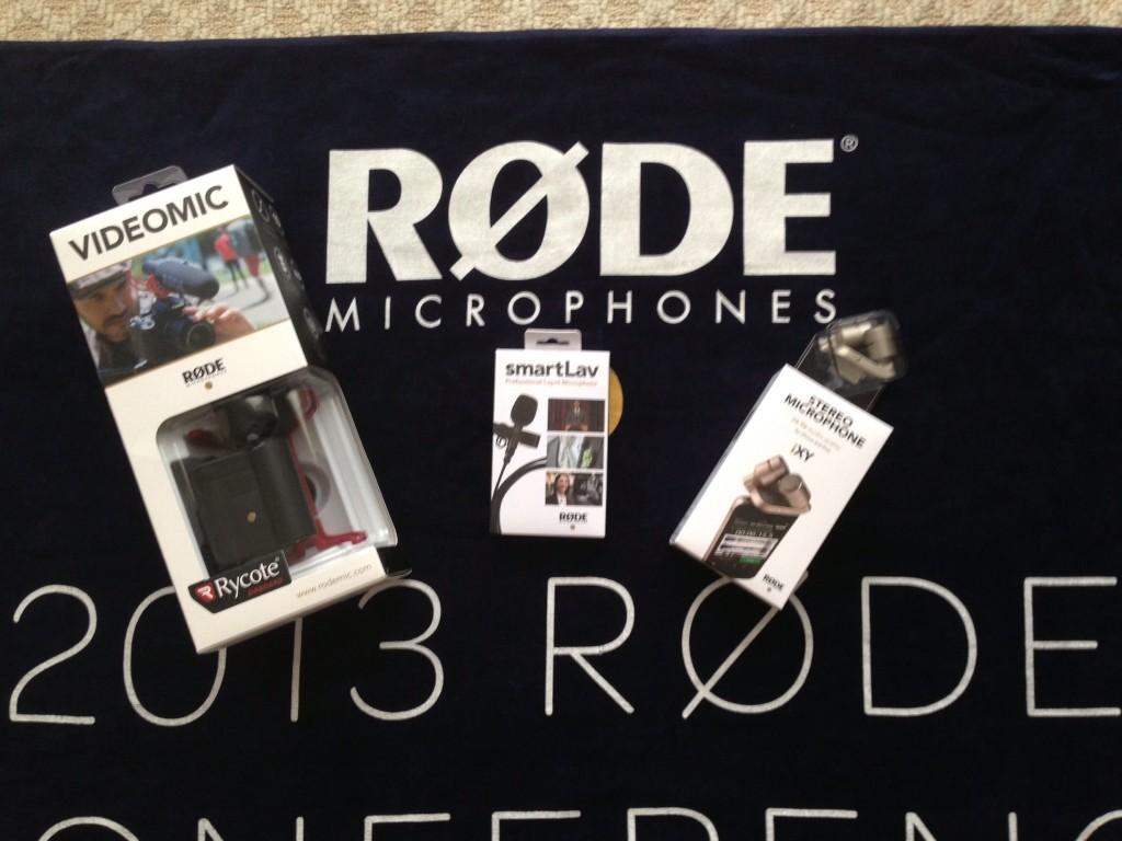 Rode VideoMic, SmartLav and iXY Mirophones