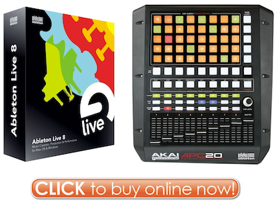Click Here to Buy Ableton Live 8 Akai APC20 Controller Bundle