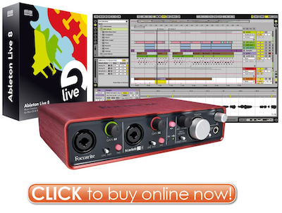 Click Here to Buy Ableton Live 8 Focusrite Scarlett 2i4 Interface Bundle