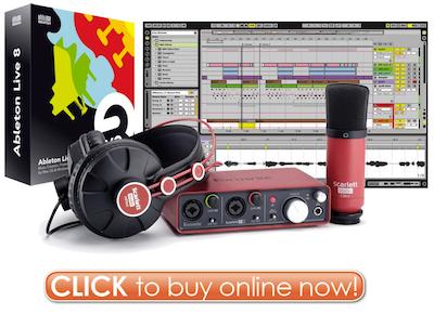 Click Here to Buy Ableton Live 8 Focusrite Scarlett Studio Bundle