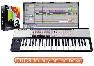 Click her to Buy Ableton Live 8 Novation 49 SL MkII Bundle