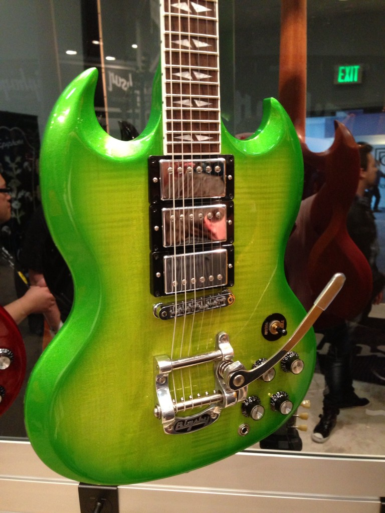 Gibson SG Electric Guitar Bright Green