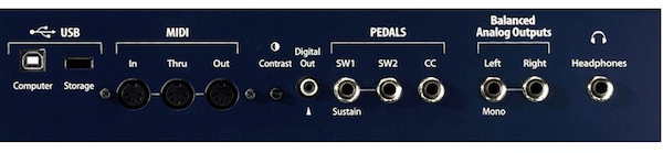 Kurzweil PC3LE6 Performance Controller Synthesiser - Connections