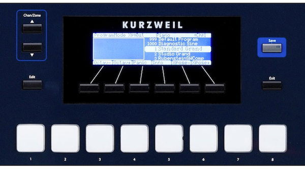 Kurzweil PC3LE6 Performance Controller Synthesiser - LCD and Pads