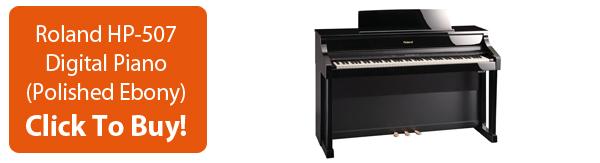 Click To Buy Roland HP-507 Digital Piano Polished Ebony