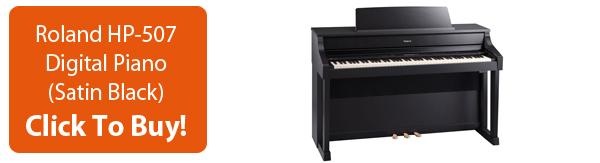 Click To Buy Roland HP-507 Digital Piano Satin Black