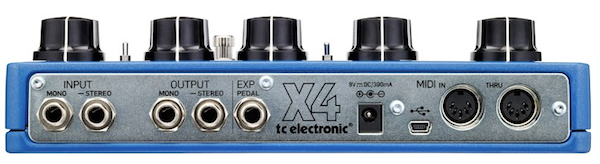 TC Electronic Flashback X4 Delay & Looper Pedal - Connections