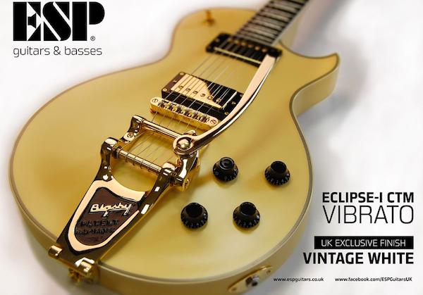 ESP Eclipse-I CTM Vibrato, Vintage White