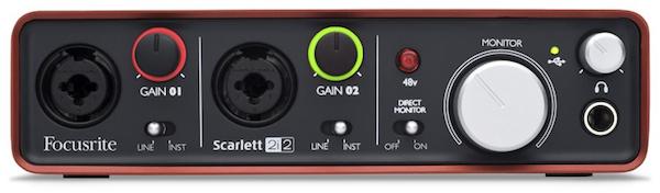 Focusrite Scarlett 2i2 USB Audio Interface - Front