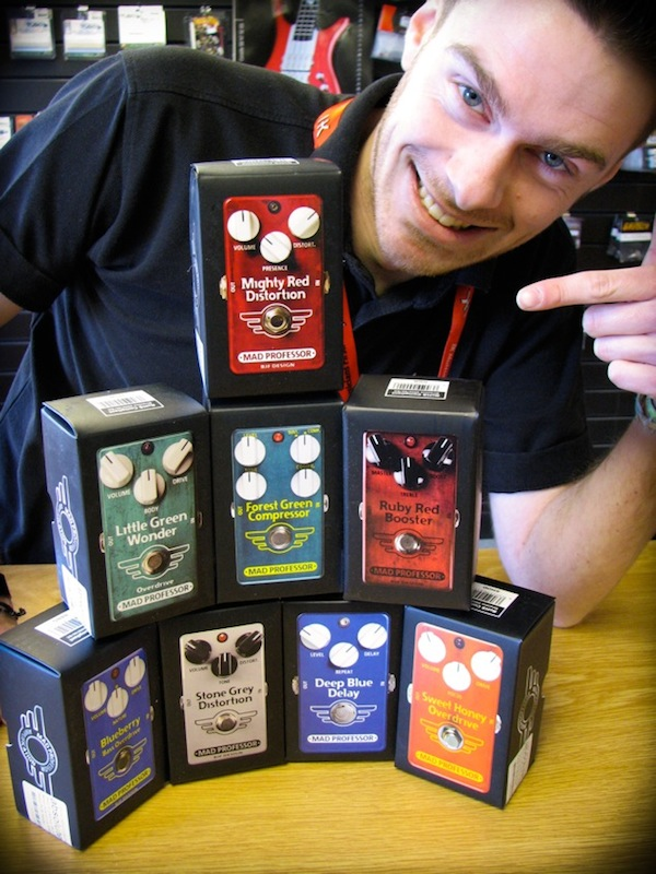Marc with Mad Professor Pedals