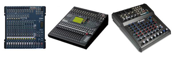 Mixers with Cubase