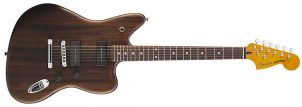 Fender Modern Player Jaguar electric guitar (black transparent)
