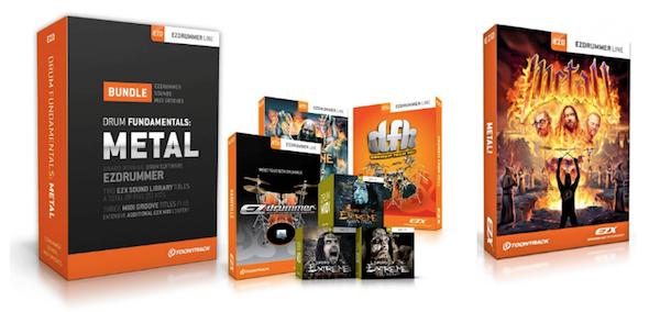 Toontrack Drum Fundamentals Metal Bundle and EZX Metal