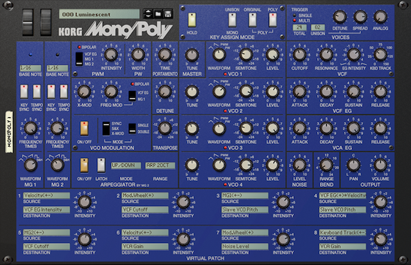 Korg Mono/Poly Reason Rack Extension