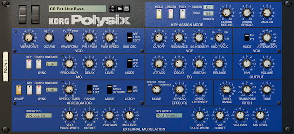 Korg Polysix Reason Rack Extension