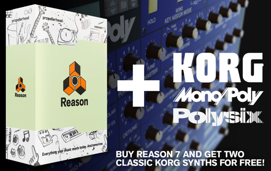Reason Korg Rack Extension Offer
