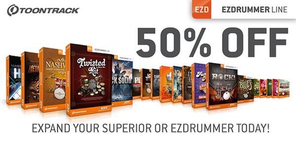 Half Price Toontrack EZXs