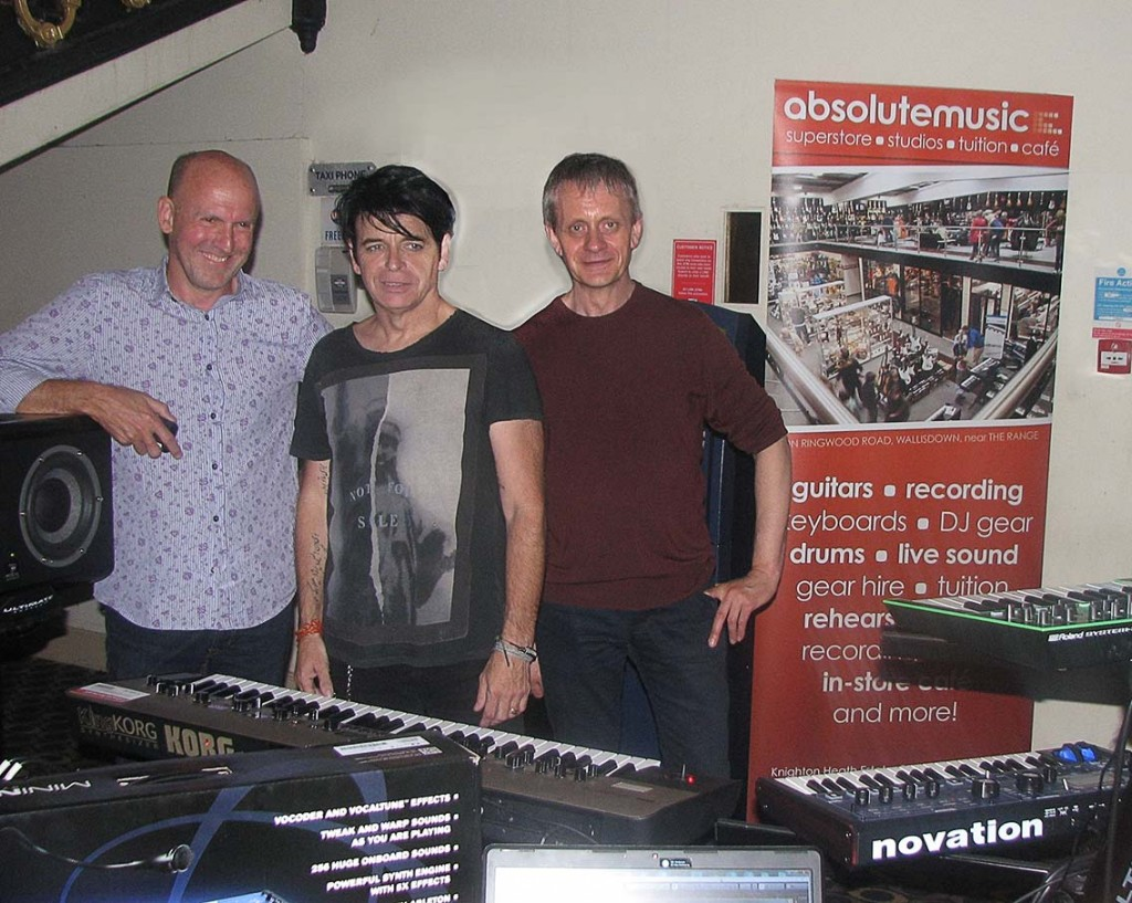 From left to right: Garry Robson, Gary Numan and Matt Jessup