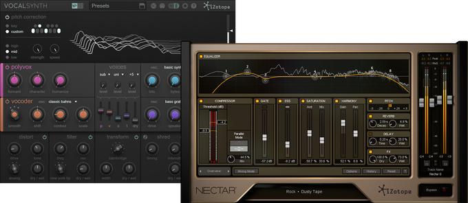 Izotope Nectar2 and Vocal Synth