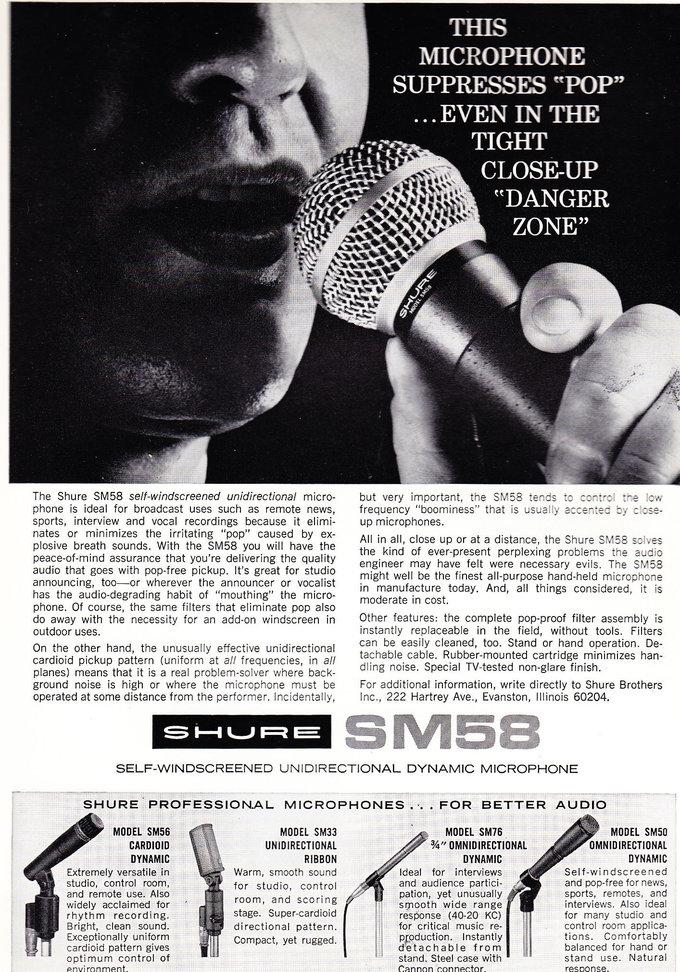 classic sm58 advert