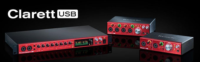Focusrite Clarett USB Interfaces